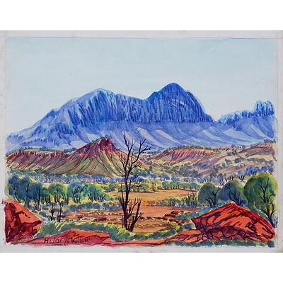 Hilary Wirri (born 1959), Central Australian Landscape, Watercolour, 24.5 x 31.5cm