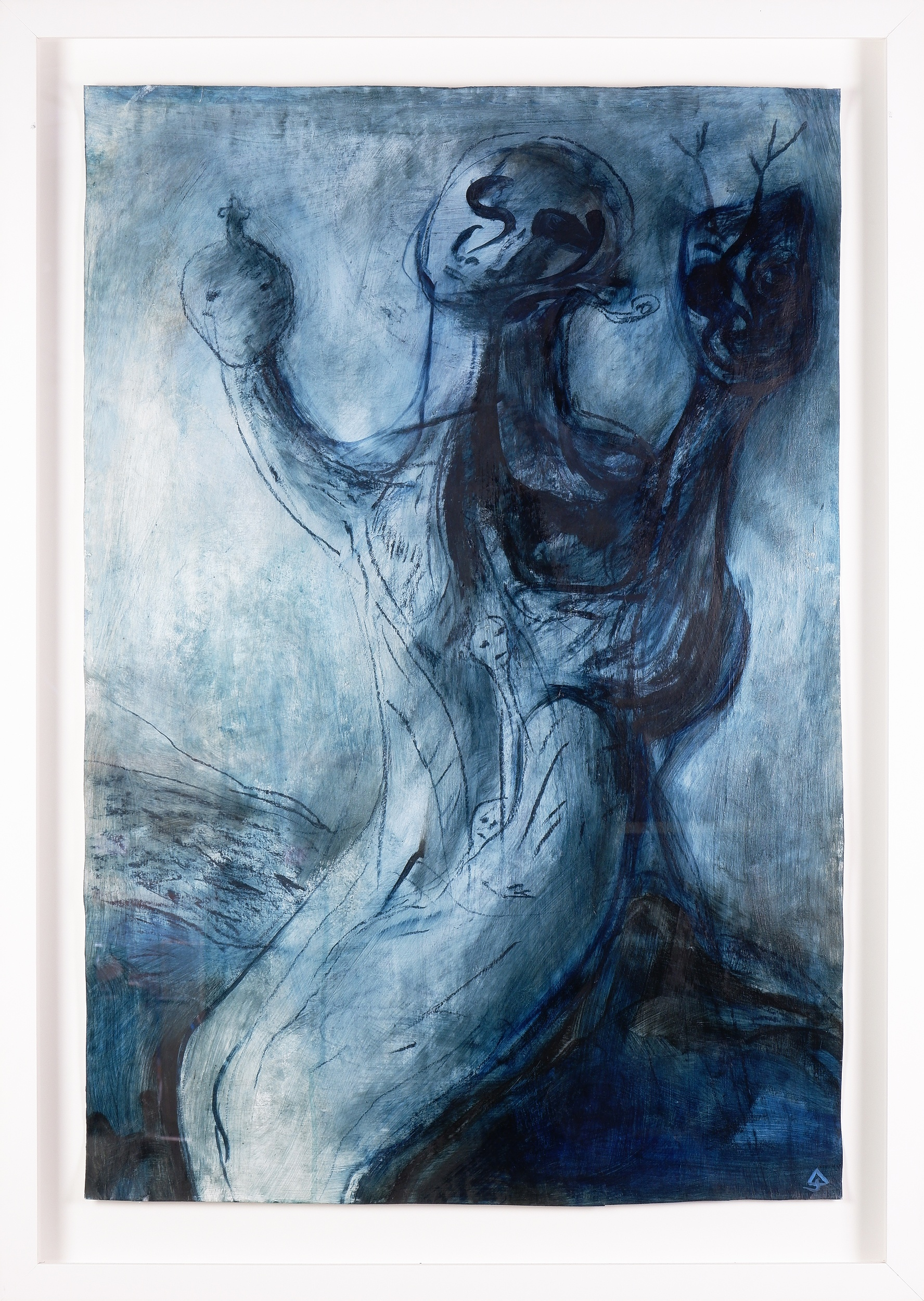 'James Davis (1940-2019), Bohemian Relics I 1997, Acrylic on Paper, 95 x 65 cm'