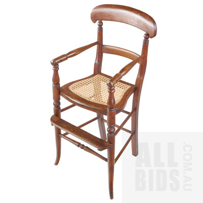 Victorian Mahogany Children High Chair, Circa 1880
