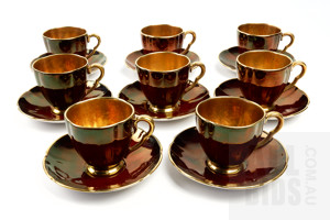 Carlton Ware Rogue Royale Demitasse Setting for Eight