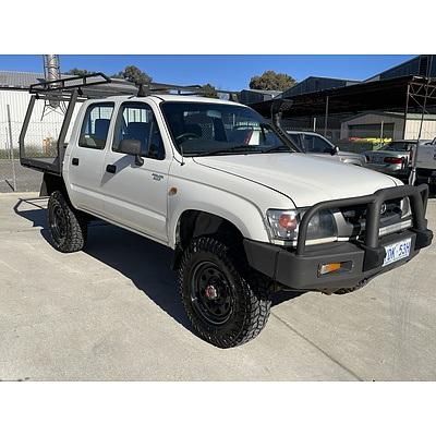 6/2004 Toyota Hilux (4x4) LN167R Dual Cab Ute White 3.0L