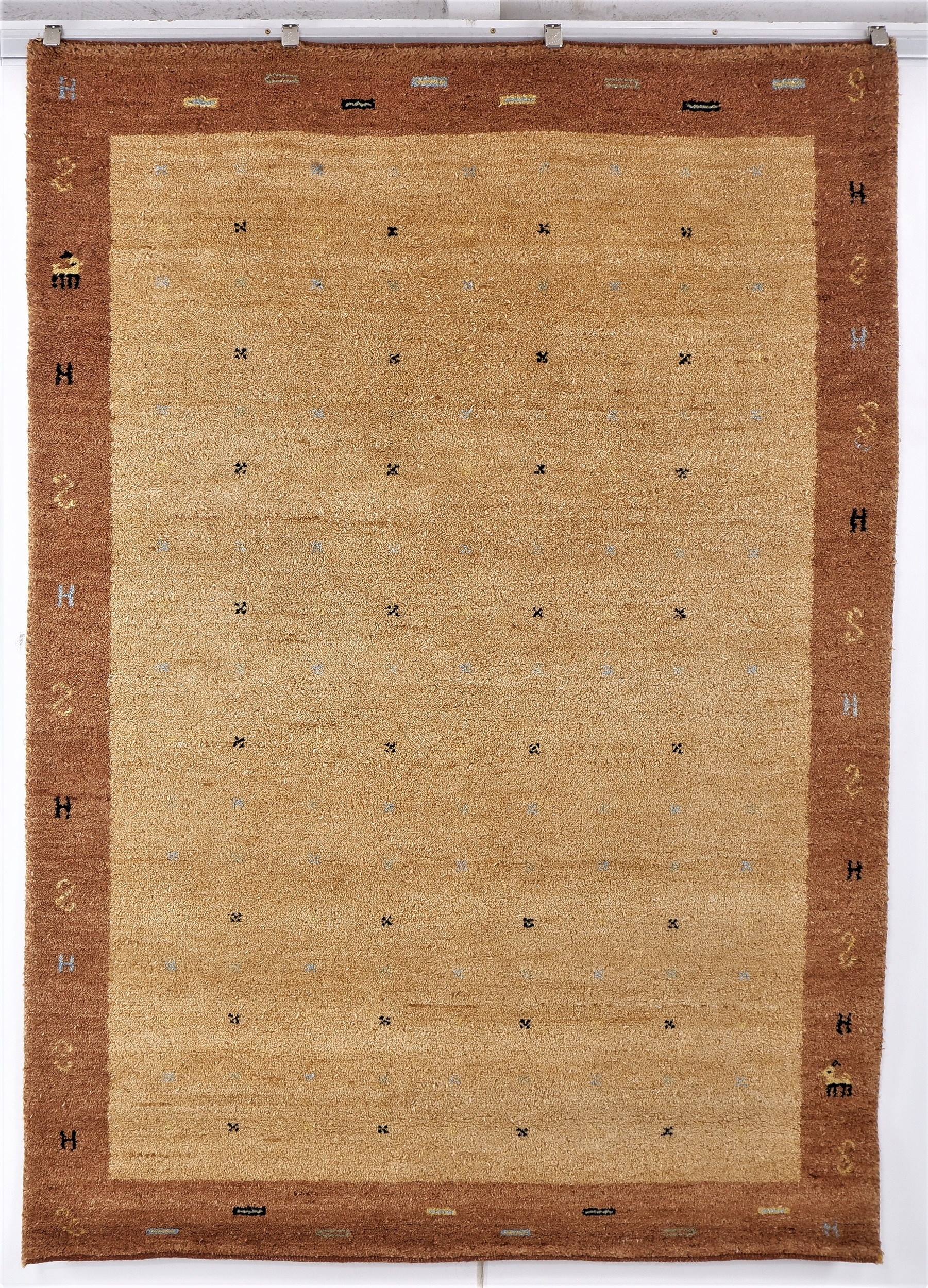 'Afghan Gabbeh Nomadic Hand Knotted Thick Wool Rug '