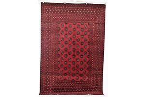 Afghan Bokhara Hand Knotted Pure Wool Rug