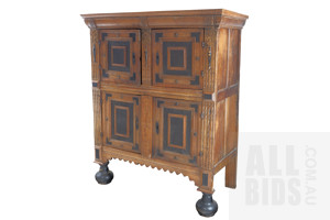 An Impressive Large Dutch Panelled Oak Coffer, Inscribed and Dated MDCCCXV (1815)