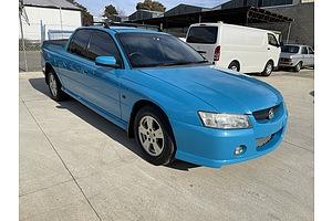2/2006 Holden Crewman S VZ MY06 Crew Cab Utility Blue 3.6L - Manual