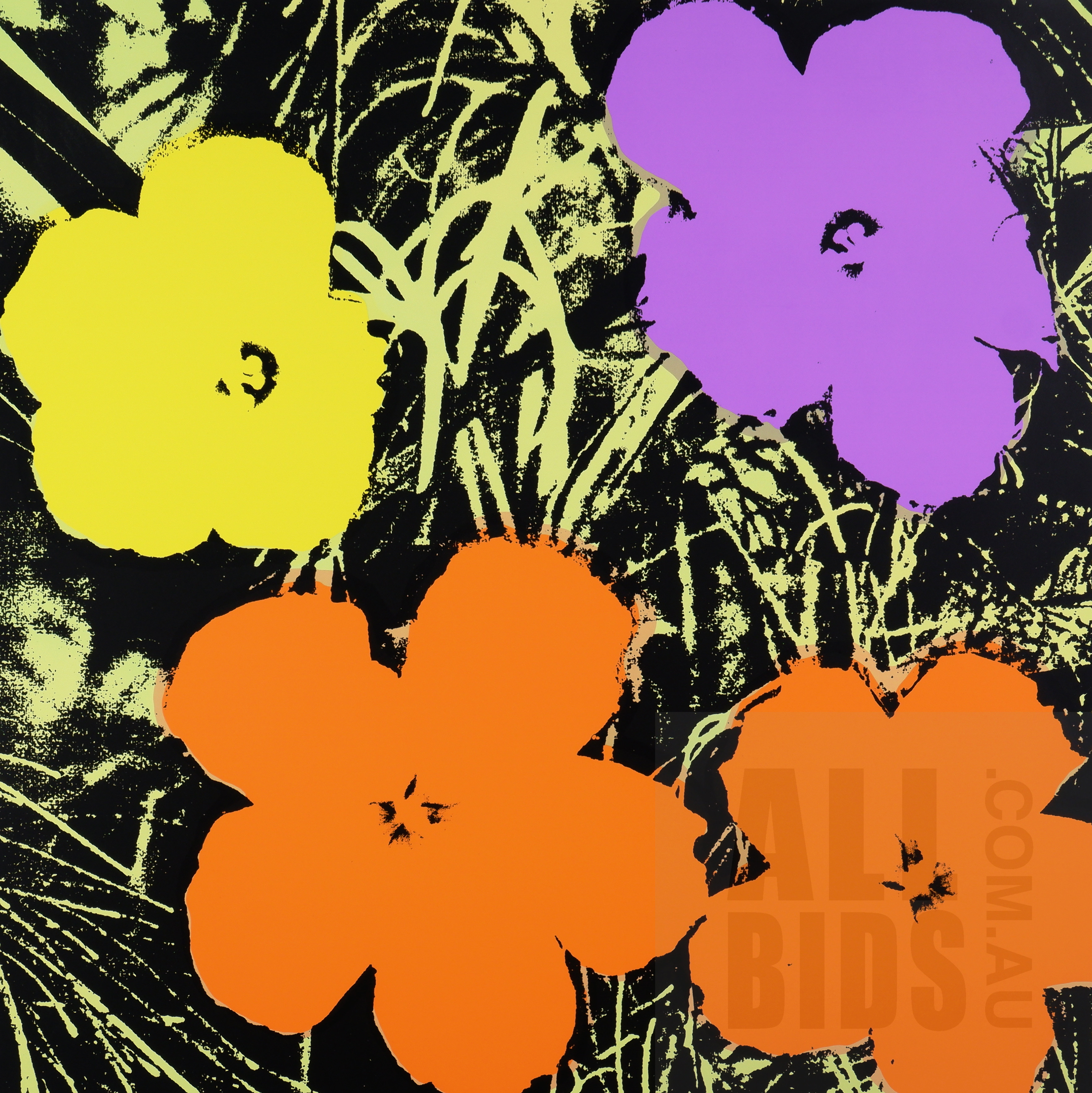 'After Andy Warhol, Flowers 11.67 (2018), Screenprint on Museum Board, Published by Sunday B. Morning, 90 x 90 cm'
