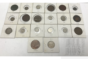 Collection of Carded Australian Coins, Pennies, Shillings, Three Pence and Six Pence