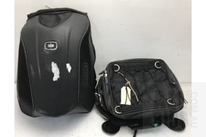 Ogio No Drag Mach 3 Stealth Backpack and Oxford X40 Bike Mounted Pack