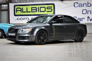 4/2006 Audi RS4 Quattro B7 4d Sedan Grey 4.2L V8 Supercharged