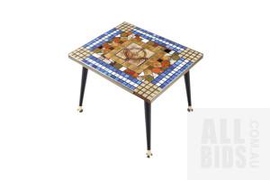 Retro Tile Mosaic Top Coffee Table