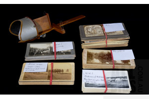 Vintage Stereoscope with Collection Australian and Boer War, WW1 and New Zealand Slides