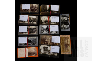 Large Collection Antique European, Asian, American and More Stereoscope Slides