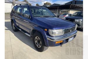3/1997 Nissan Pathfinder Ti (4x4)  4d Wagon Blue 3.3L