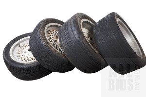 Set of Four Porsche 944 Rims with Tyres
