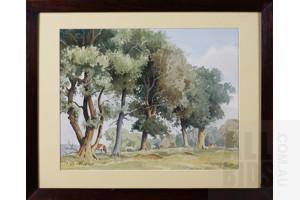 F. F. Errill (20th Century, British), Blackwood Hill, Staffordshire, Watercolour, 26 x 34 cm