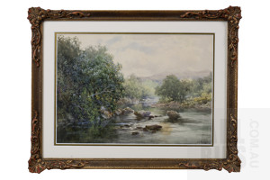 W. J. Wadham (1864-1950), Untitled (River Scene), Watercolour, 23 x 33 cm