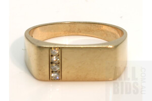 9ct Gold Signet Style Ring