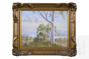 Leonard Long (1911-2013), Summer Hill, New South Wales, Oil on Board, 18.5 x 22.5 cm