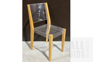 Pacha Clear Acrylic Composite Occasional Chair -  ORP $190
