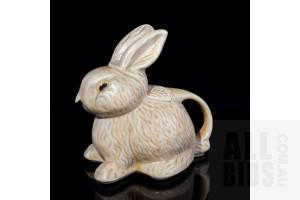Art Deco English Pottery Bunny Teapot