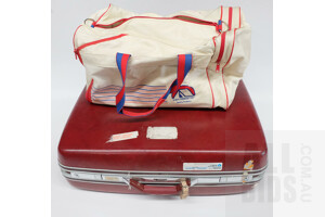 Samsonite Red Hardshell Suitcase and DMH Trendsetter Travel Bag