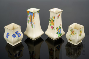 Four Vintage Royal Doulton Bud Vases, D54971, Marina D5480 and Two others