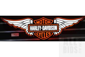 Illuminated Harley Davidson 3D Display Sign