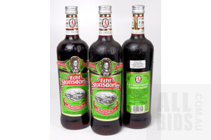 Echt Stonsdorfer Herbal Liqueur 700ml - Lot of Three