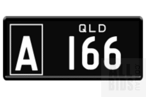 Queensland QLD Numerical A Number Plate A.166