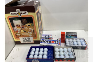 Large Lot of Golf Balls & Micro Home Brewery
