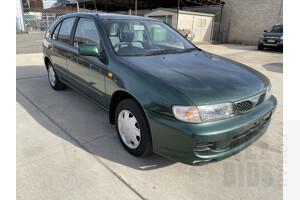 6/1998 Nissan Pulsar LX  5d Hatch Green 1.6L