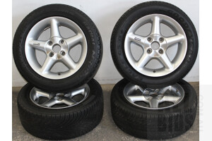 Set Of Four 15 Inch Alloy Wheels With Tyres