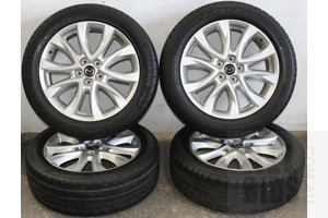 Set Of Four 19 Inch Alloy Wheels With Tyres