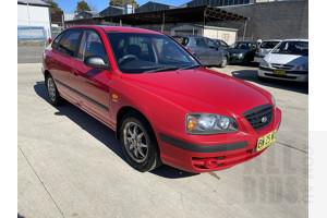 7/2004 Hyundai Elantra 2.0 HVT XD 4d Sedan Red 2.0L