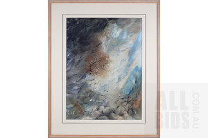 David Voight (born 1944), Veils of Silence II, Tasmania 1993, Mixed Media on Paper, 75 x 55 cm