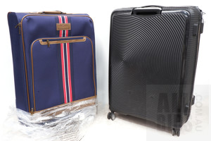 Tommy Hilfiger Nantucket Collection Upright Suitcase and American Tourister Curio 80cm Large Expandable Hardcase Spinner Suitcase
