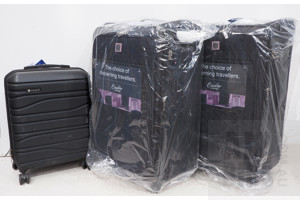 2x Courier Luggage Quilting Collection C425 Suitcase and Tosca TravelGoods Trolley Case