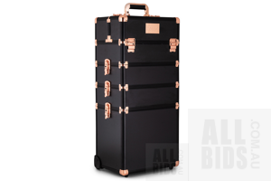 llluminate Me Beauty Trolley and 16 Piece Cube Modular Storage Organizer