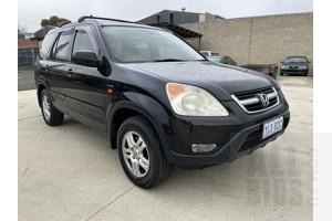 10/2002 Honda CRV (4x4) Sport MY03 4d Wagon Black 2.4L