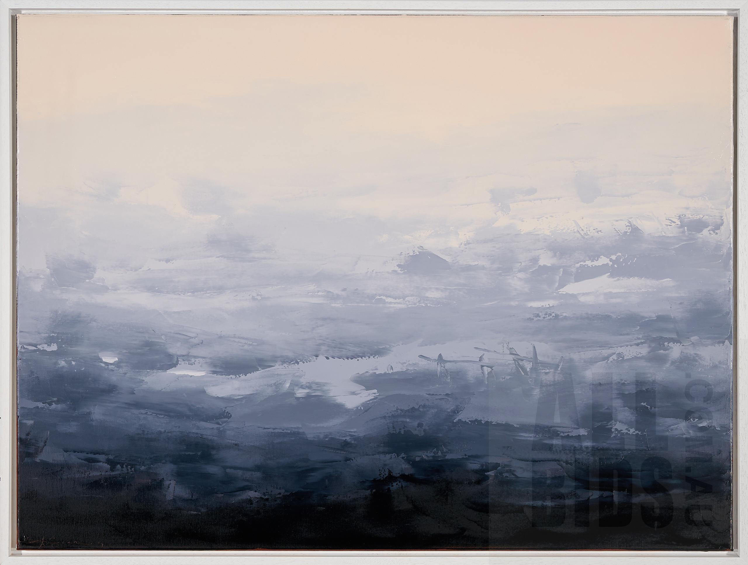 'Sokquon Tran (born 1969), Southern Highlands at Dusk, Oil on Canvas, 76 x 101.5 cm'