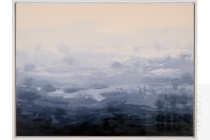 Sokquon Tran (born 1969), Southern Highlands at Dusk, Oil on Canvas, 76 x 101.5 cm