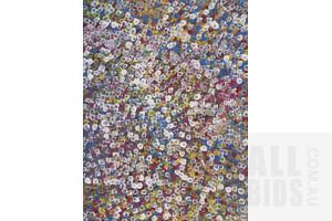 Bessie Pitjara (born 1960), Bush Plum, Acrylic on Canvas, 94 x 70 cm