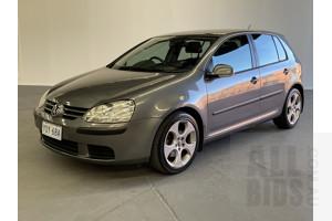 9/2005 Volkswagen Golf 2.0 FSI Comfortline 1K 5d Hatchback Grey 2.0L