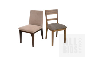 Two Fabric Upholstered Side Chairs (2)