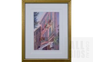 Judith Lundstrom-Roberts (born 1932), St Paul de Vence, France, Watercolour, 53 x 35 cm