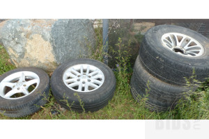 Alloy Car Rims and Tyres - Lot of Five