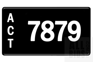ACT 4-Digit Number Plate - 7879