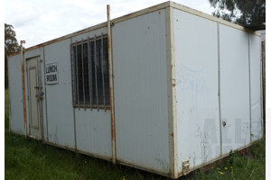 Demountable Insulated Site Shed/Lunch Room - 6 Meters x 3.1 Meters