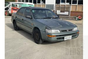 7/1998 Toyota Corolla Conquest AE102R 4d Sedan Green 1.8L
