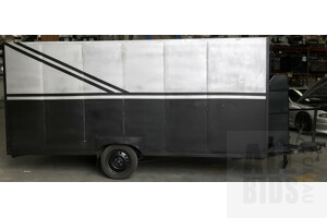 Single Axle Covered Trailer